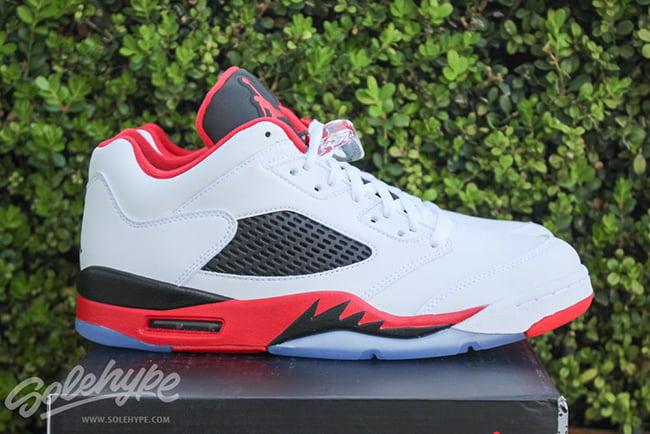 new style d464d b6734 Air Jordan 5 Low Fire Red Retro