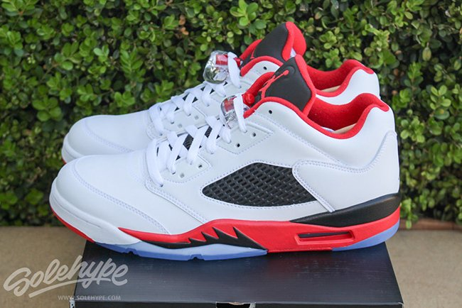 Air Jordan 5 Low Fire Red Retro