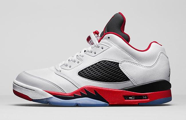 Air Jordan 5 Low Fire Red Retro Release