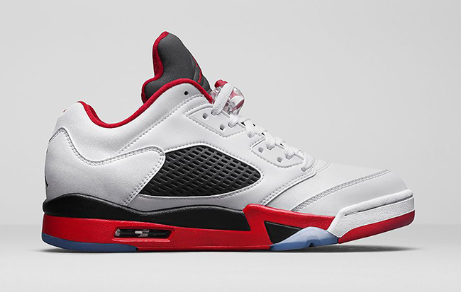 new arrivals ee7eb bea36 Air Jordan 5 Low Fire Red Retro Release