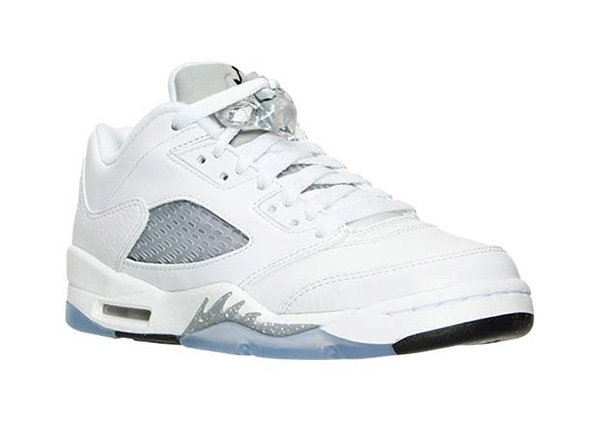 Air Jordan 5 Low GS White Wolf Grey