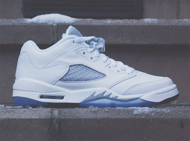 Air Jordan 5 Low GS White Wolf Grey Black March 2016