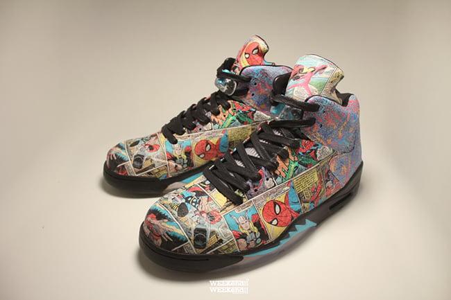 a96cba77a6c Air Jordan 5 The Avengers Custom | SneakerFiles