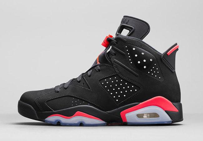 Air Jordan 6 Black Infrared Restock Size