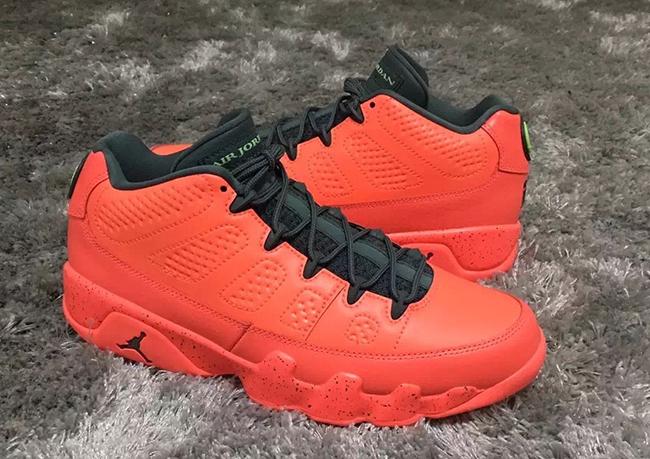 Air Jordan 9 Low Red Infrared Black