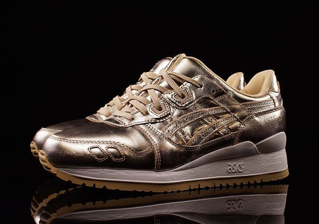 asics gel lyte iii metallic rose