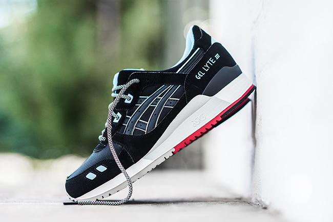 asics gel lyte iii black blue