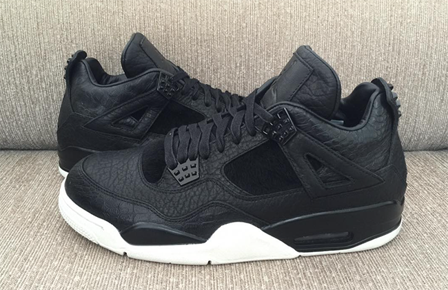 Black Air Jordan 4 Premium Retro March 2016