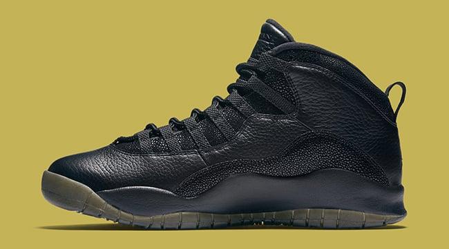 Black OVO Air Jordan 10 Drake