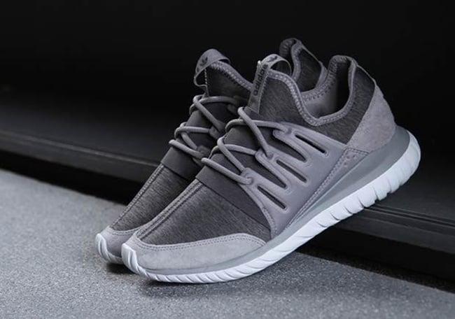 adidas Tubular Radial 'Fleece Grey' Available Now