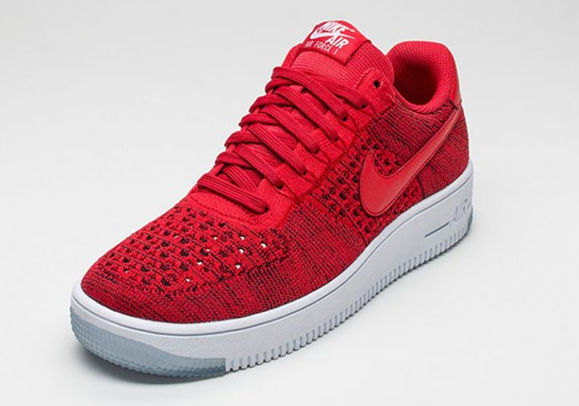 Nike Air Force 1 Flyknit Lav Universitet Rød Nike ZOLUzsdz