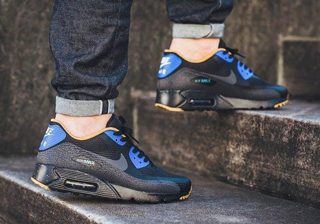 Nike Air Max 90 De Ultra Esencial Negro Azul Corredor 3w8XPm
