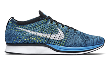 Nike Flyknit Racer Blue Cactus Blue Glow Black White