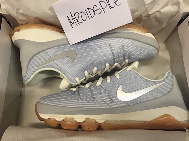 Nike KD 8 GS Wolf Grey Metallic Silver