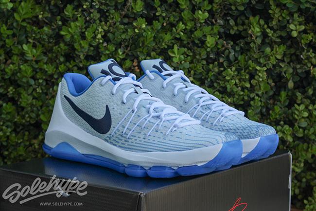 Nike KD 8 Home White Blue Yellow