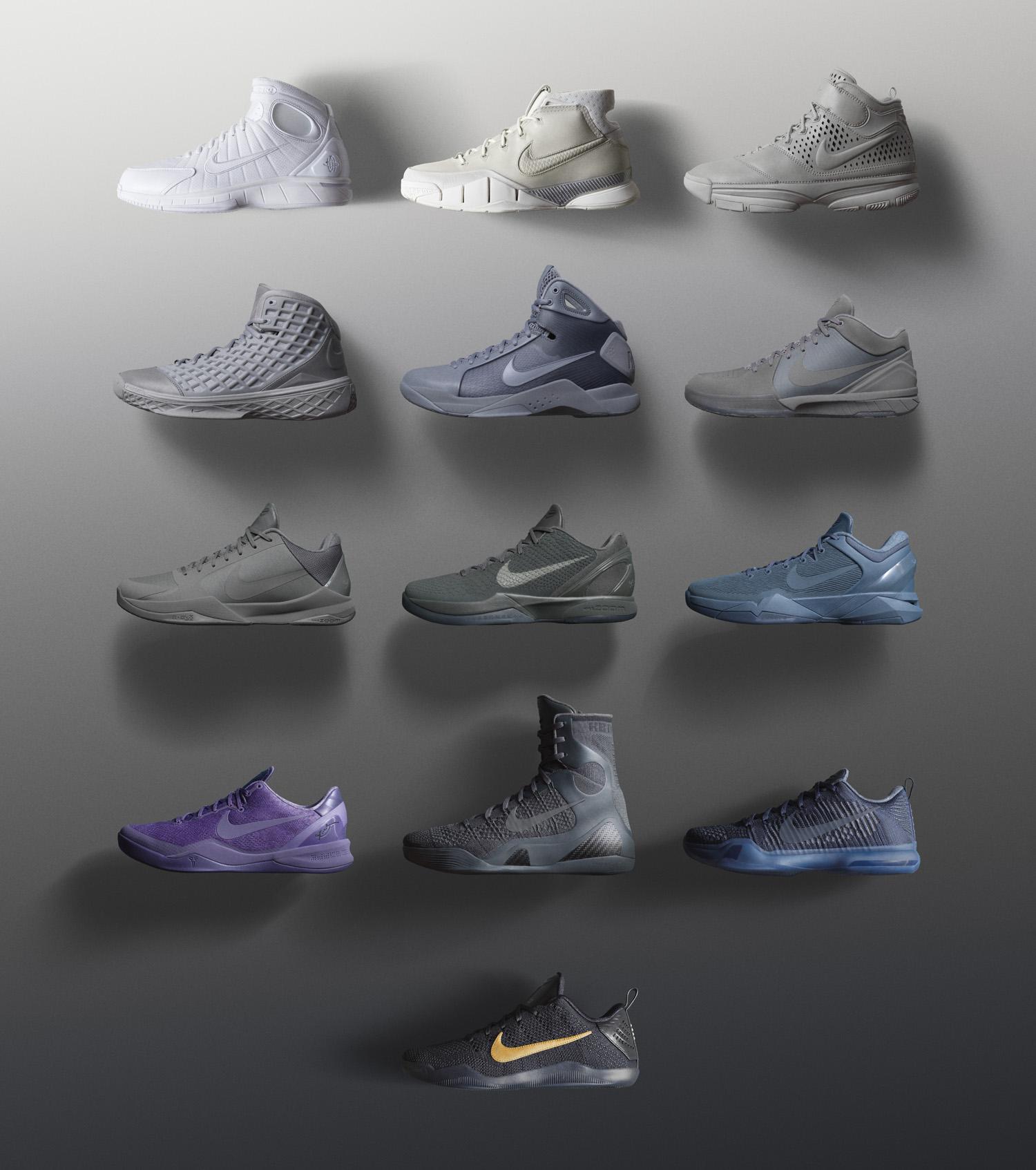 4f763b86ec2e3 Nike Kobe Fade to Black FTB Collection