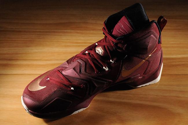 Nike LeBron 13 Bronze Wine