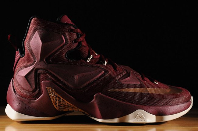 2858e4deb6316 Nike LeBron 13 GS Team Red Metallic Red Bronze