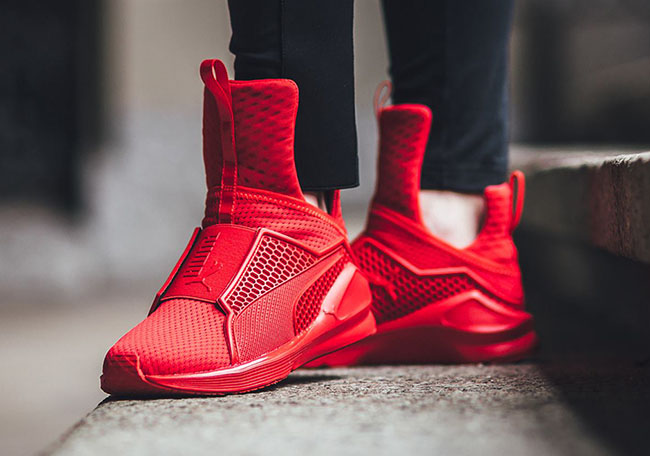 81d252fb514 Rihanna Puma Fenty Trainer On Feet