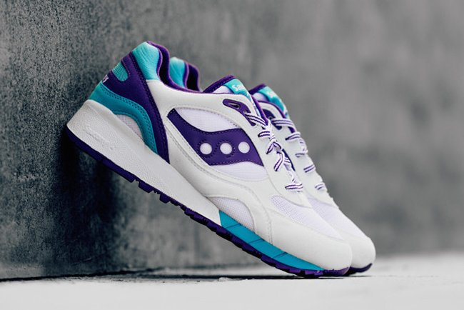 Saucony Shadow 6000 White Purple Teal