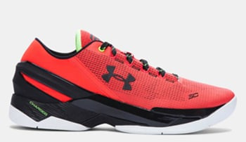 Under Armour Curry 2 Low Red Energy