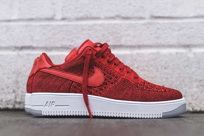 Nike Air Force 1 Ultra Flyknit Lav Universitet Rød c5kxxPnDI