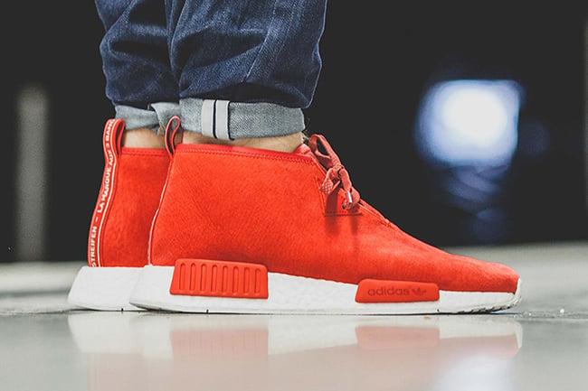 Adidas Nmd Red On Feet