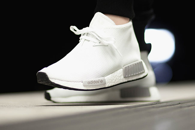 adidas NMD Chukka Vintage White On Feet