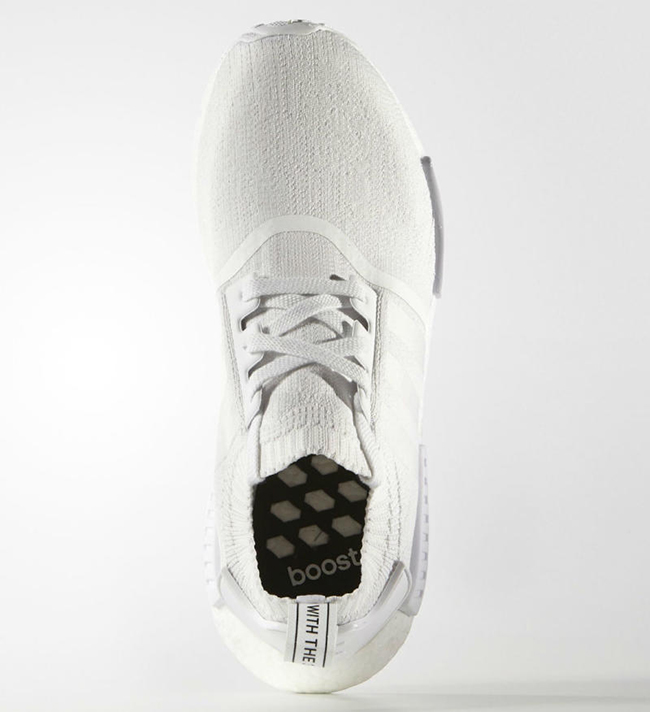 Adidas Nmd R1 Primeknit Monocromatica Bianca yyx8d