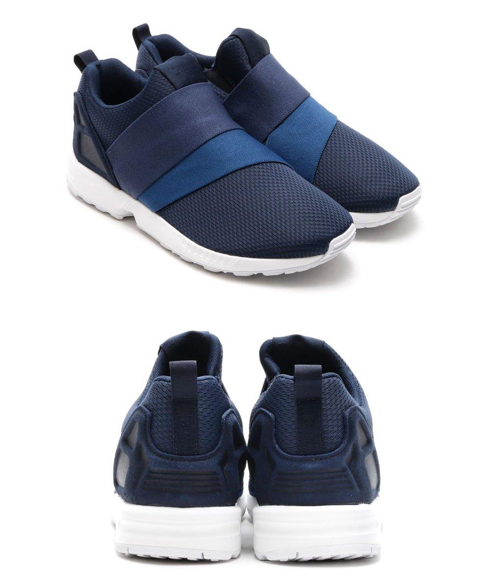 good adidas Originals ZX FLUX Black White Shoes Low top trainers