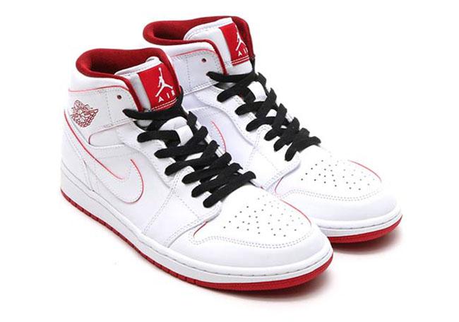 Air Jordan 1 Mid White Red