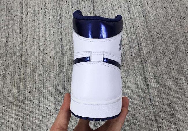 Air Jordan 1 White Metallic Navy OG Retro