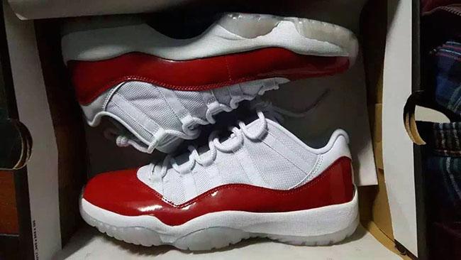 Air Jordan 11 Low White Red 2016