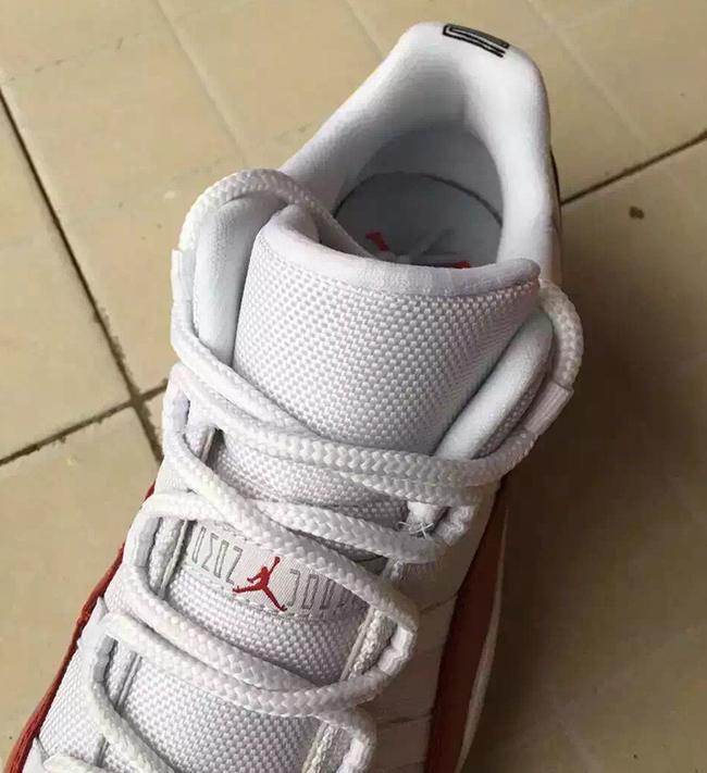 Air Jordan 11 Low White Varsity Red 2016