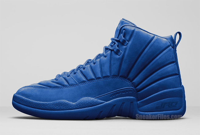 huge selection of 1ced2 e5272 Air Jordan 12 Blue Suede | SneakerFiles