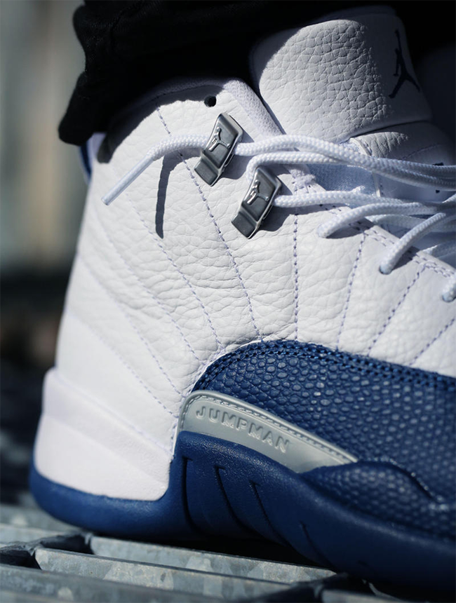 Air Jordan 12 French Blue On Feet