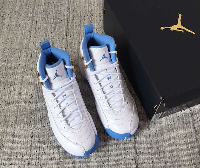 Air Jordan 12 GS White Blue Retro