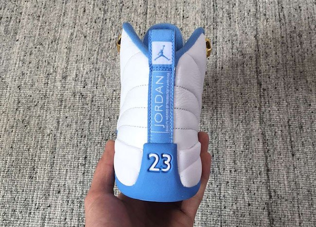 Air Jordan 12 GS White Blue Retro