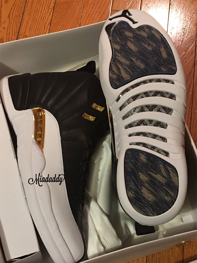 Air Jordan 12 Wings Black Gold