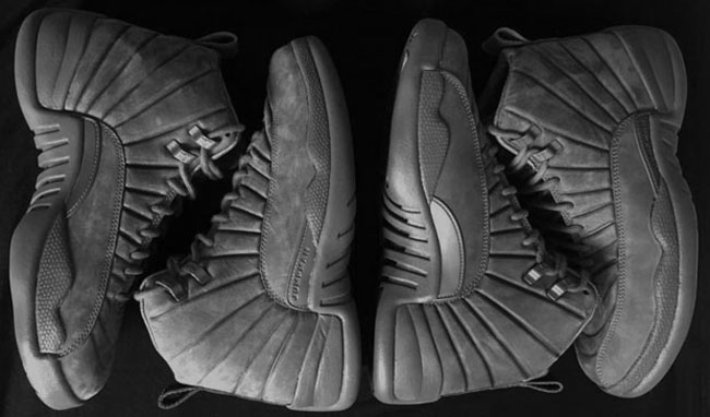 Air Jordan 12 Wool Grey Silver Black