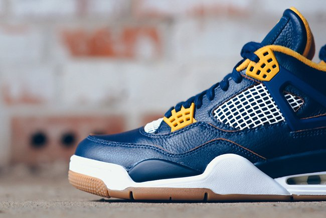 Air Jordan 4 Dunk From Above Navy Yellow