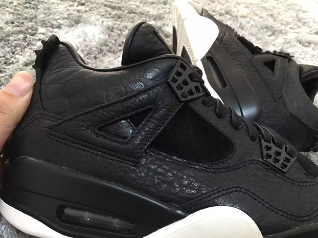 Air Jordan 4 Premium Black Pony Hair 2016