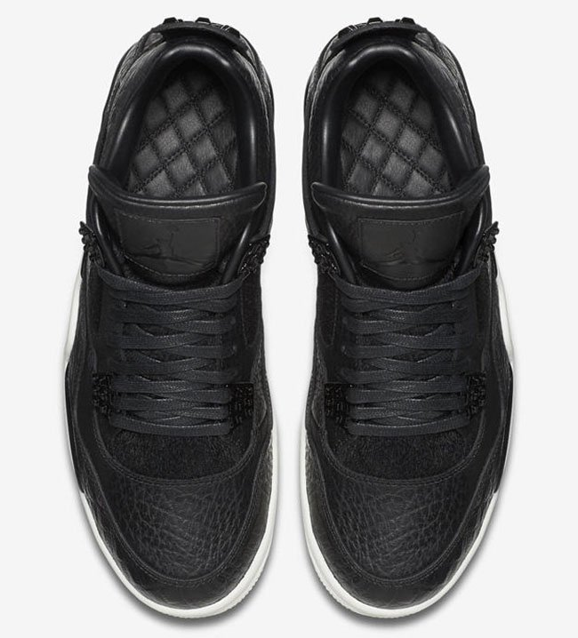 Air Jordan 4 Premium Black Pony Hair