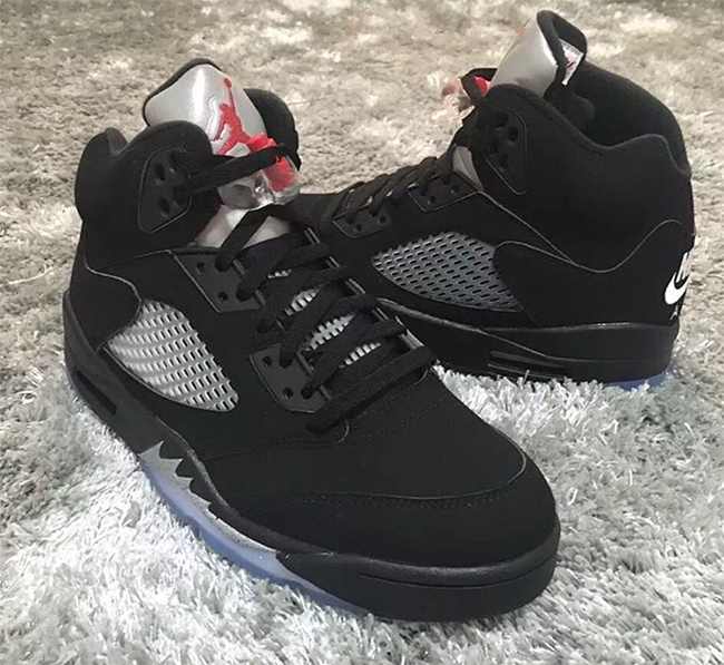 9957f3055cd Nike Air Jordan 5 Black Metallic Silver 2016 | SneakerFiles