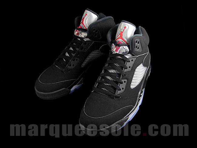 Air Jordan 5 OG Black Metallic Silver Retro