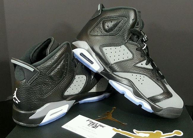 Air Jordan 6 GS Black Cool Grey
