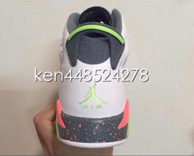Air Jordan 6 GS White Green Infrared