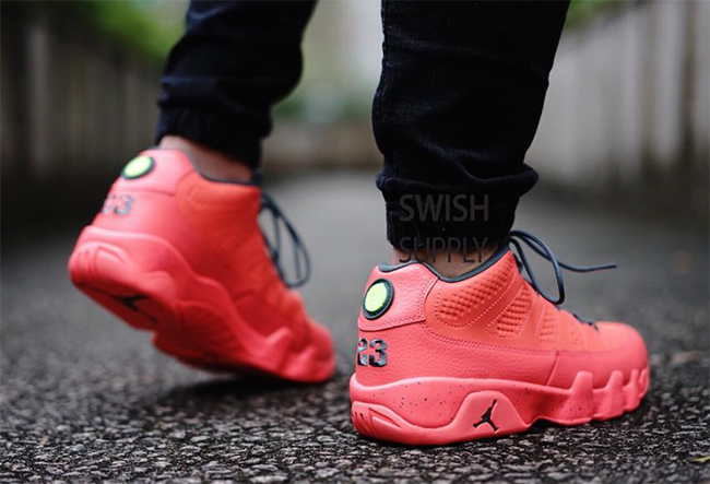 Air Jordan 9 Low Infrared On Feet