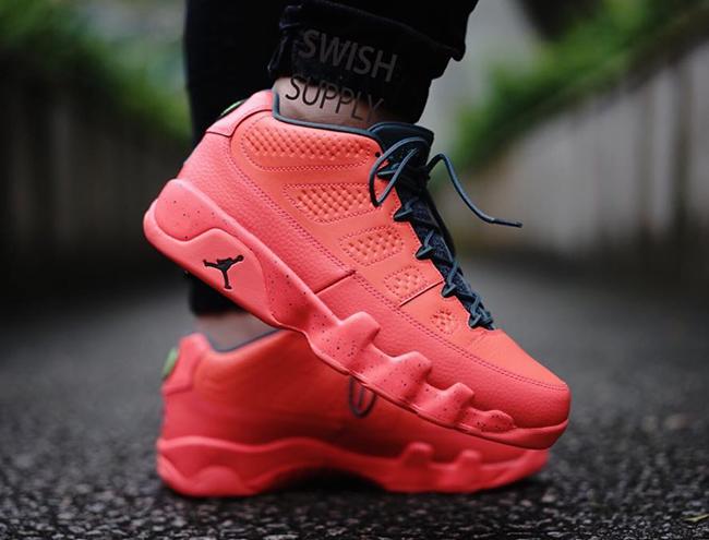 Air Jordan 9 Low Infrared On Feet