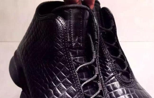 Air Jordan Horizon Premium Croc Black Leather